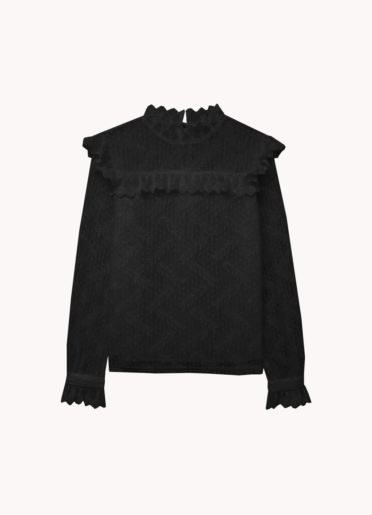 La blouse effet romantique