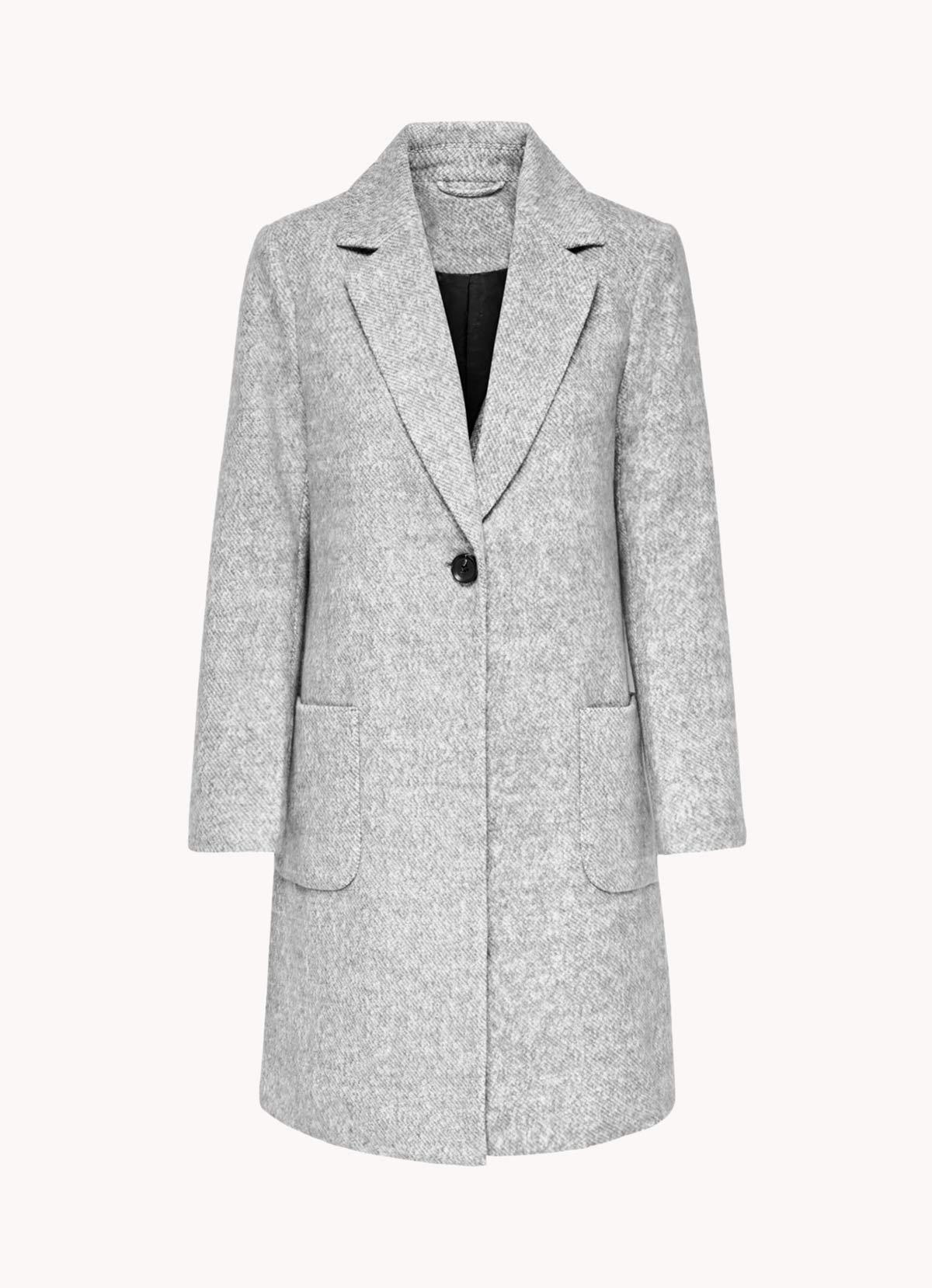 abrigo paño gris claro