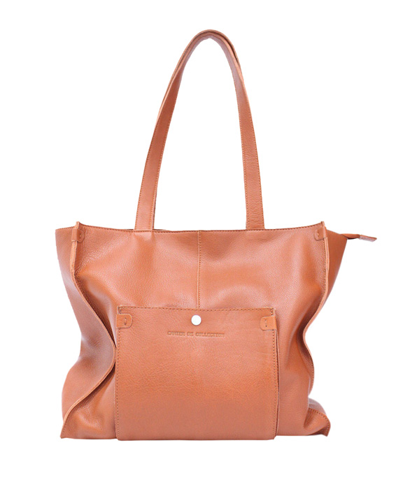 bolso shopper marron