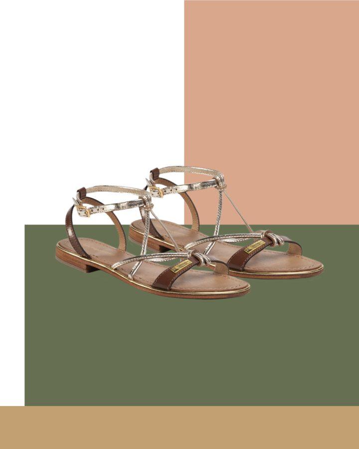 sandalias planas de tiras