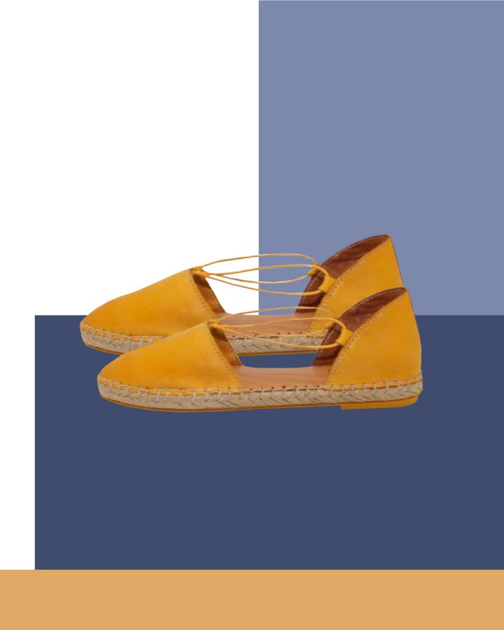 sandalias de esparto amarillas lookiero