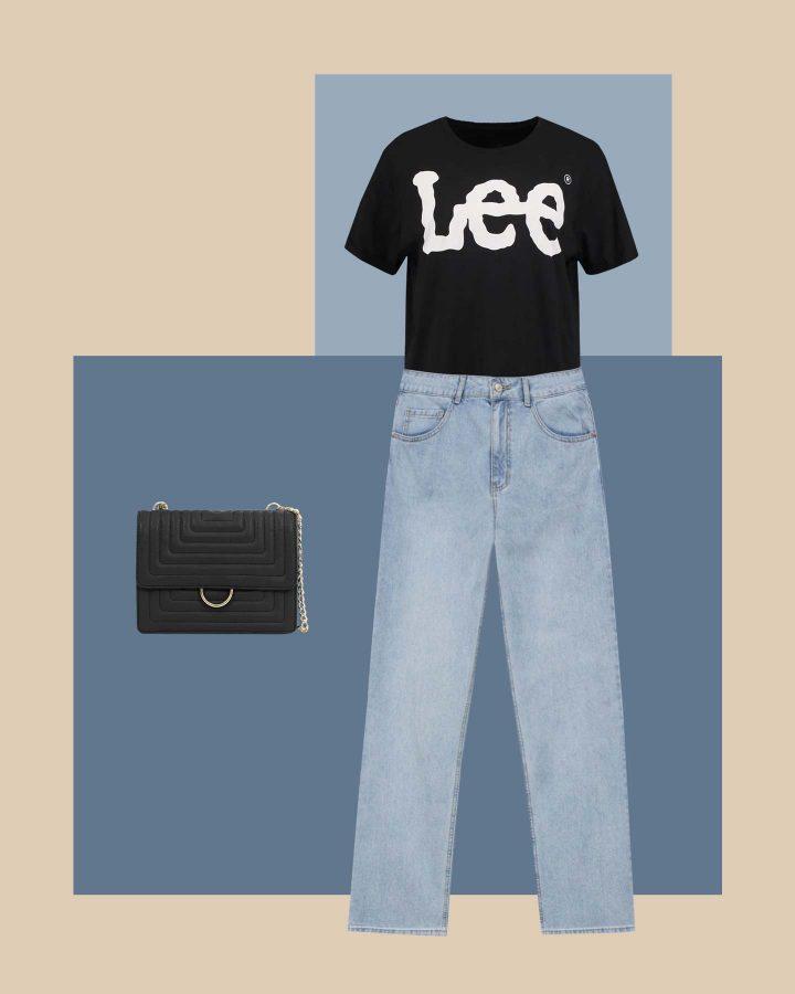 look estilo aesthetic vintage con jeans y camiseta