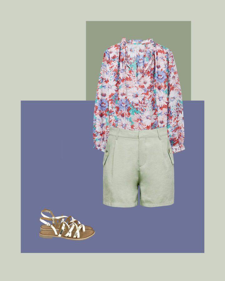 shorts de lino look