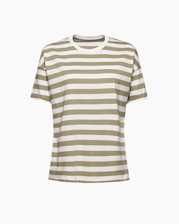 camiseta rayas beige marineras