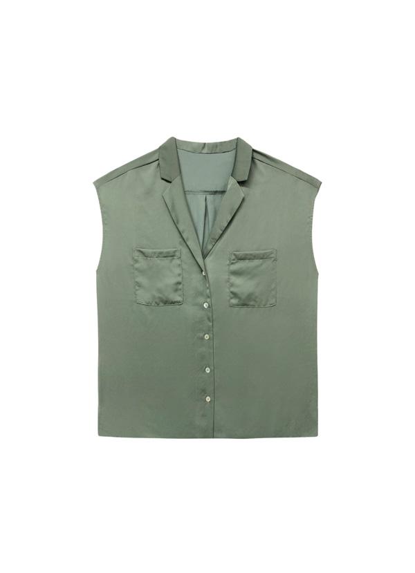 top cuello camisa para todo tipo de pechos