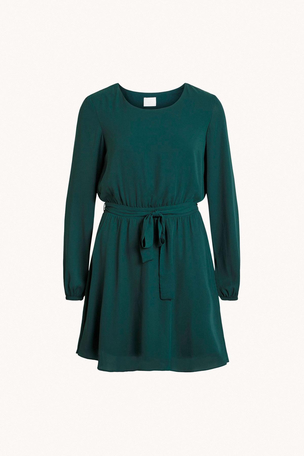 vestido verde de gasa