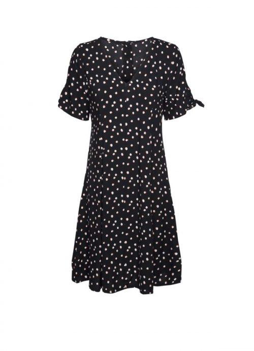 vestido lunares negro