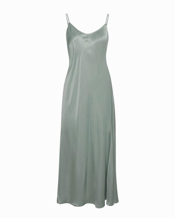 slip dress verde gris