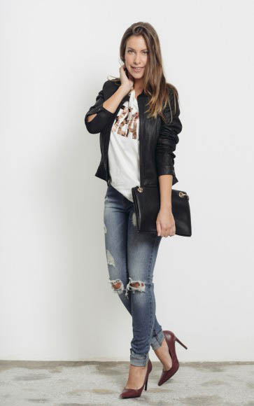 Look con jeans y tacones
