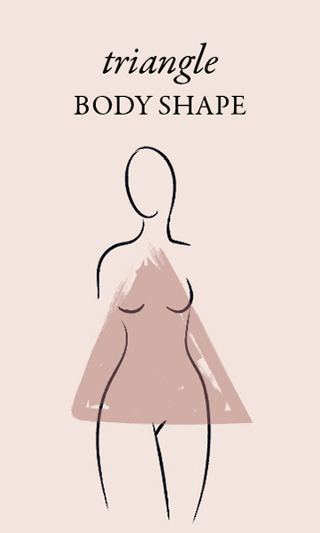 triangle body shape