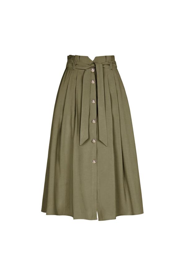 falda tiro alto disimular caderas