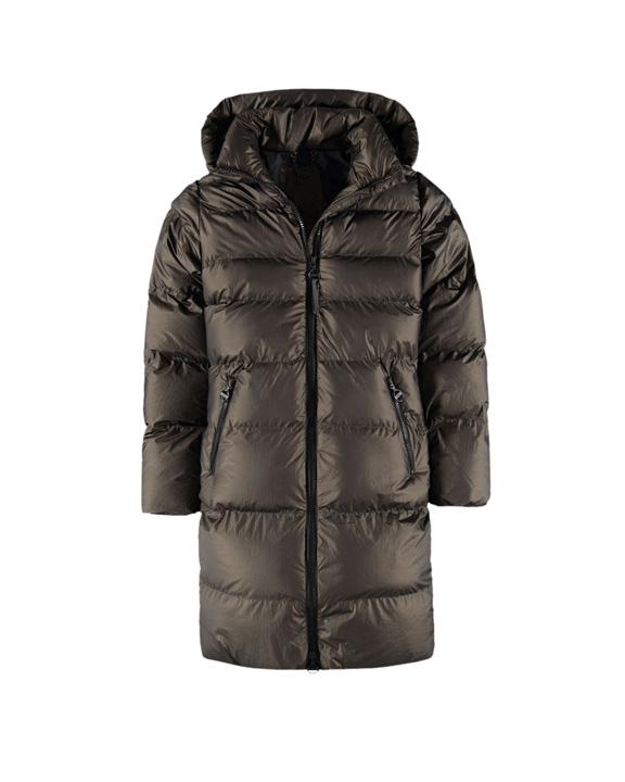abrigo de plumas negro