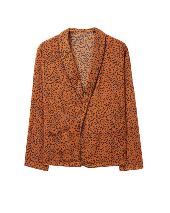 blazer print naranja