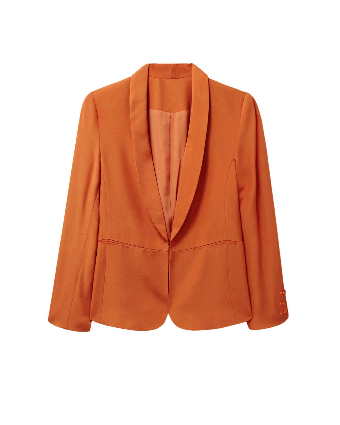 blazer color naranja primavera