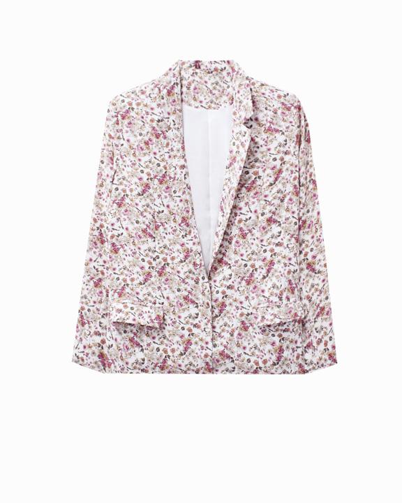 blazer estampado floral