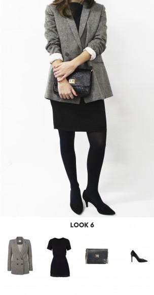 look con stilettos negros