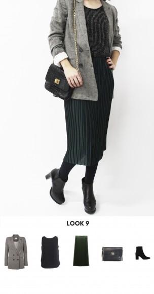 look sofisticado con blazer gris