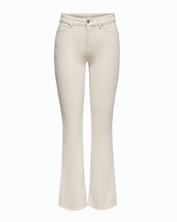 pantalones blanco roto flare