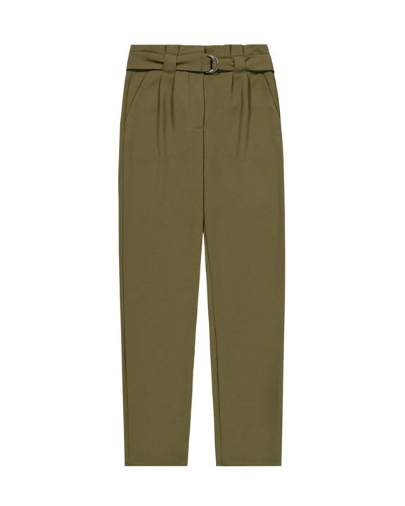 pantalón paper bag verde caqui