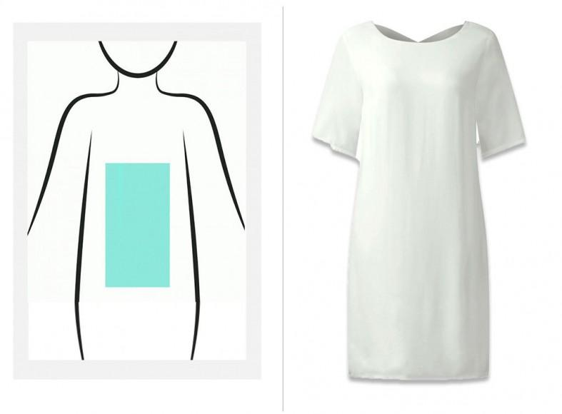 Vestido blanco básico de corte lady
