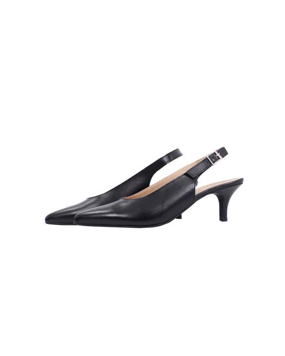 zapatos punta tacón negros