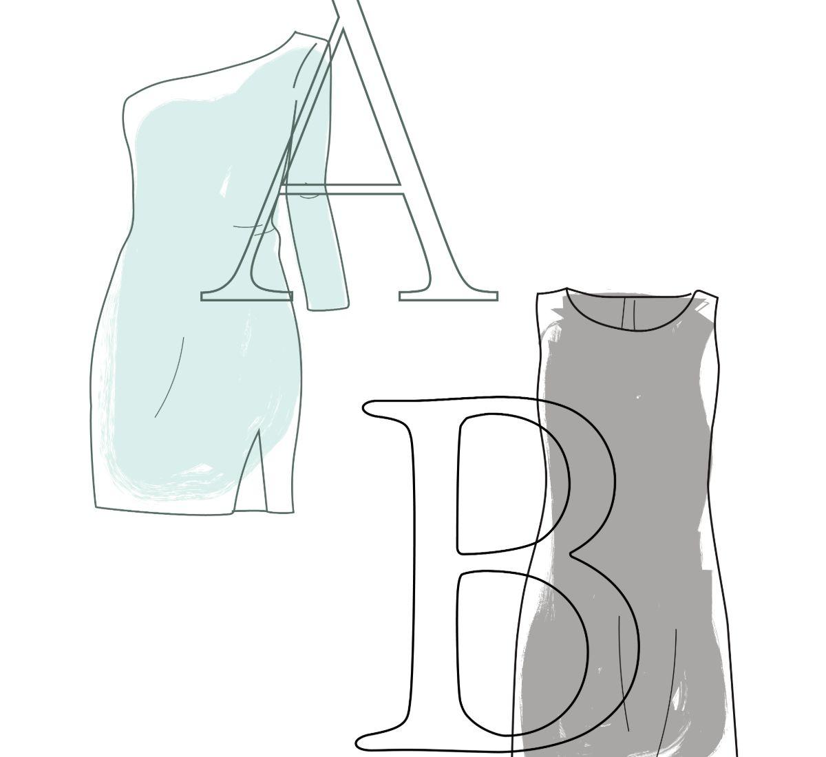 abecedario de vestidos