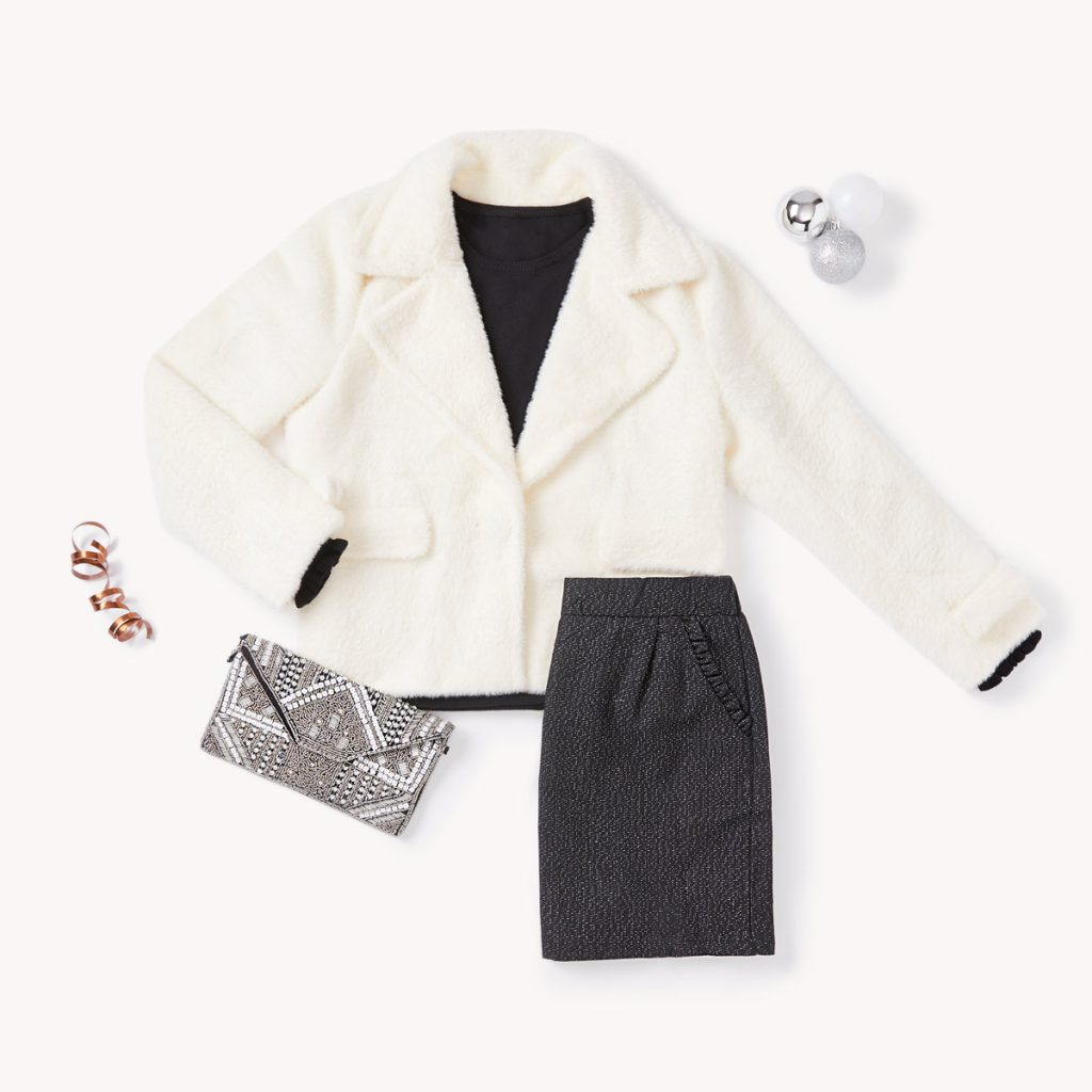 black and white new year outfit
