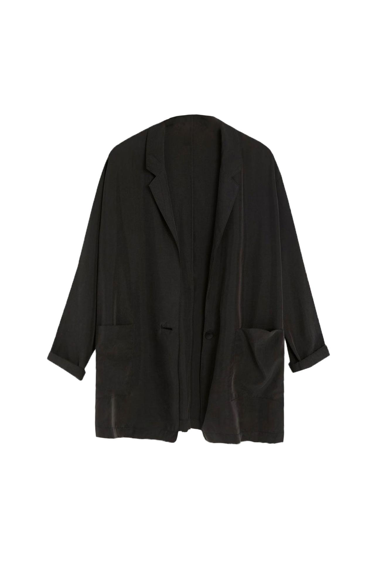 blazer negra para look navidad