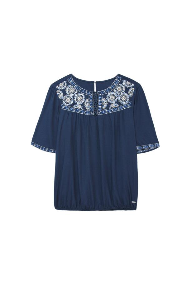 blouse silhouette losange