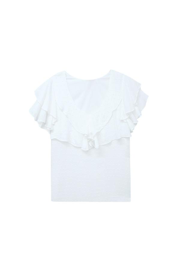 La blouse à froufrous