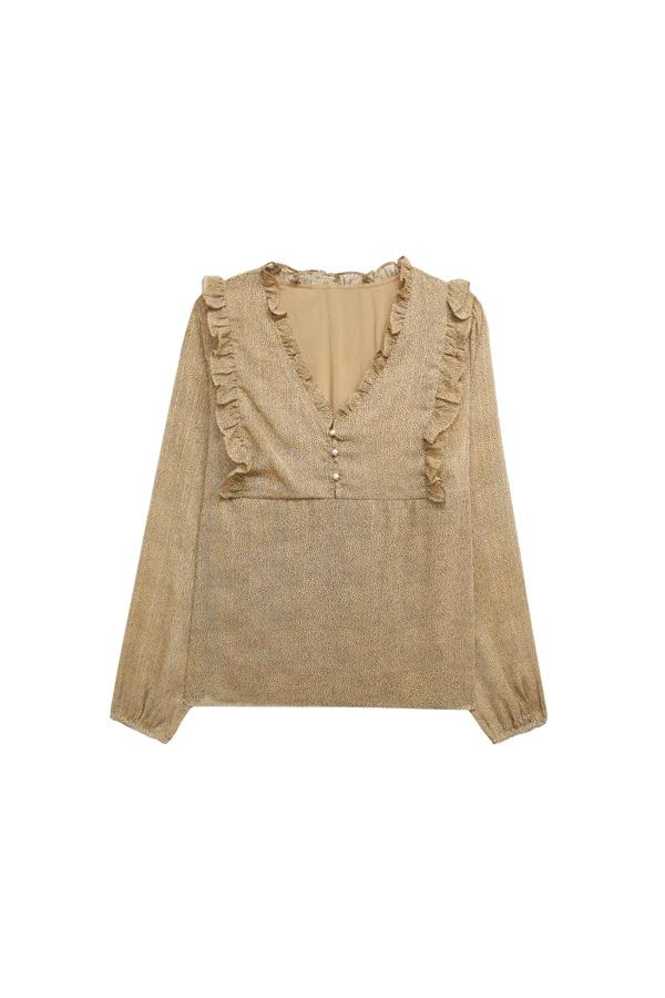 blusa gasa beige