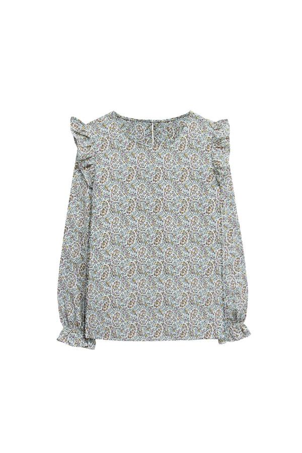 blusa fluida en gris claro