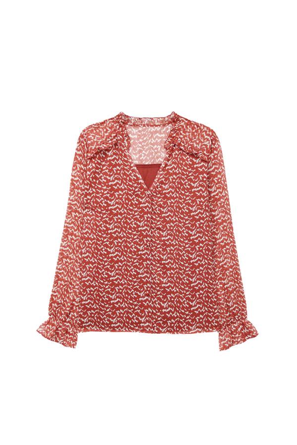 blusa gasa roja verano