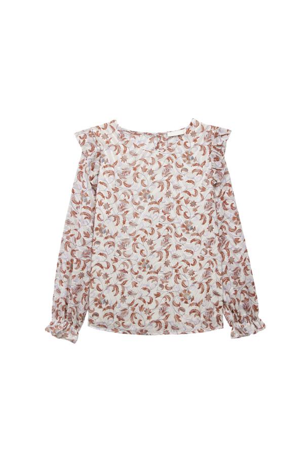 blusa gasa estampada