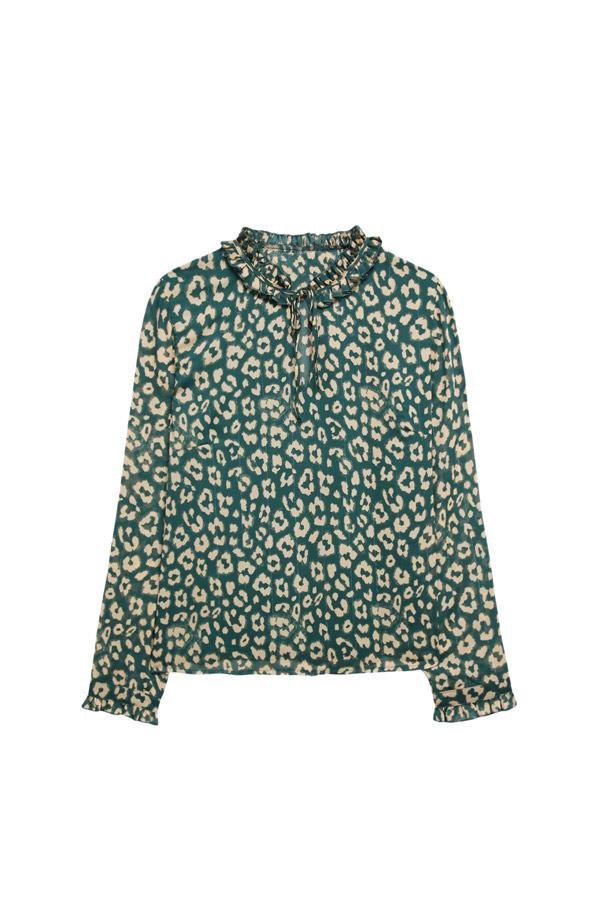 blusa de gasa verde verano