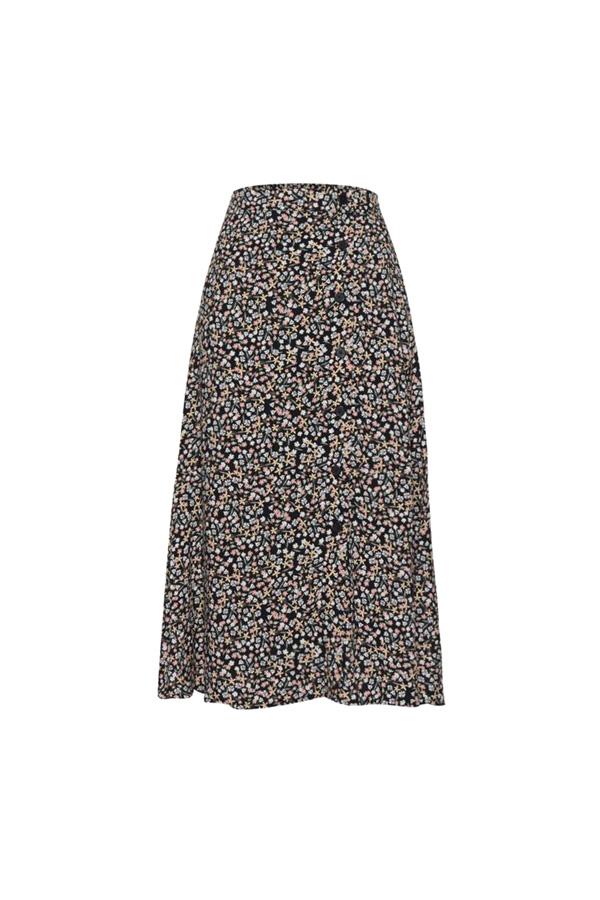 boho midi flower skirt