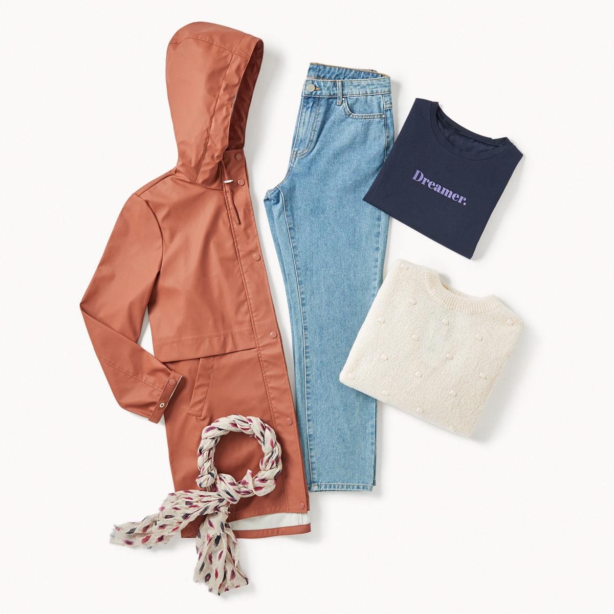 boyfriend jeans outfit lookiero