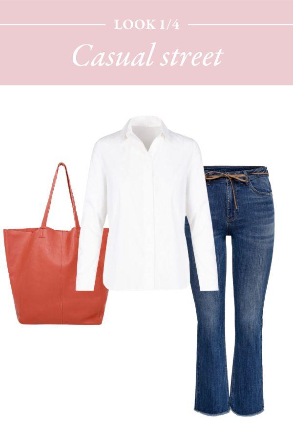 jeans y camisa blanca