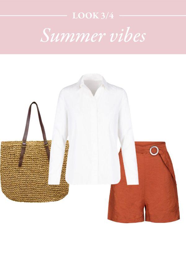 Camisa blanca y bermudas para un clásico del verano