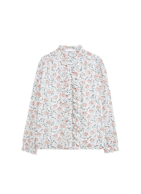 camisa estampada flores armario cápsula de primavera