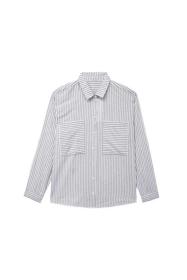 camisa rayas navy