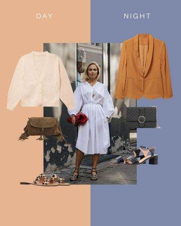 Look casual en robe chemise blanche