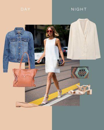 look vestido blanco corto