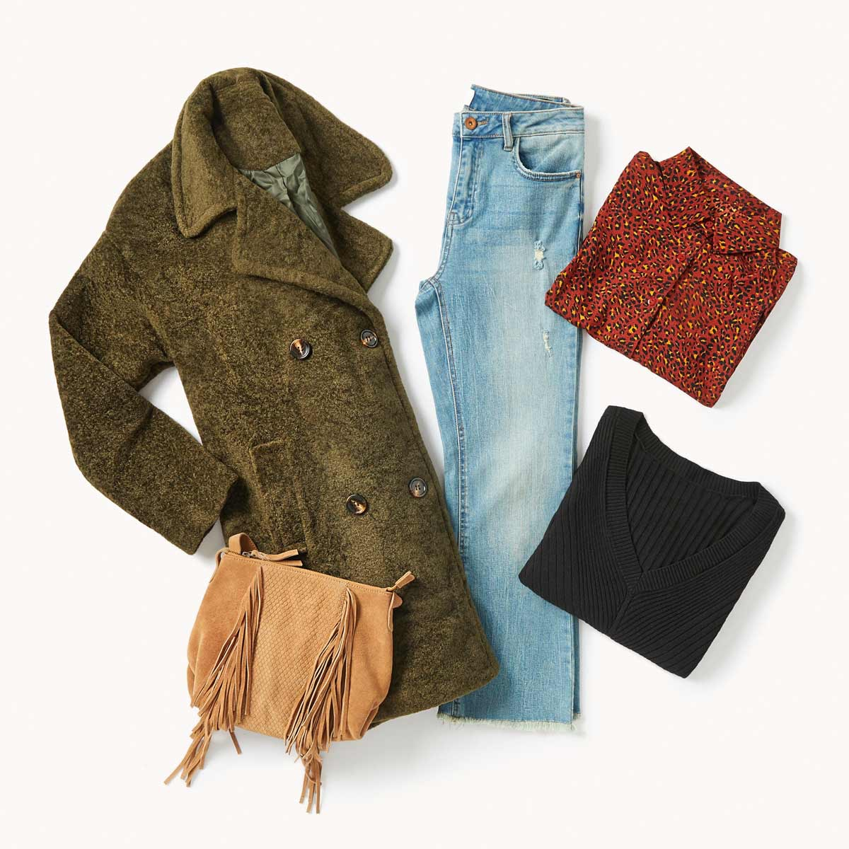 cropped jeans outfit lookiero