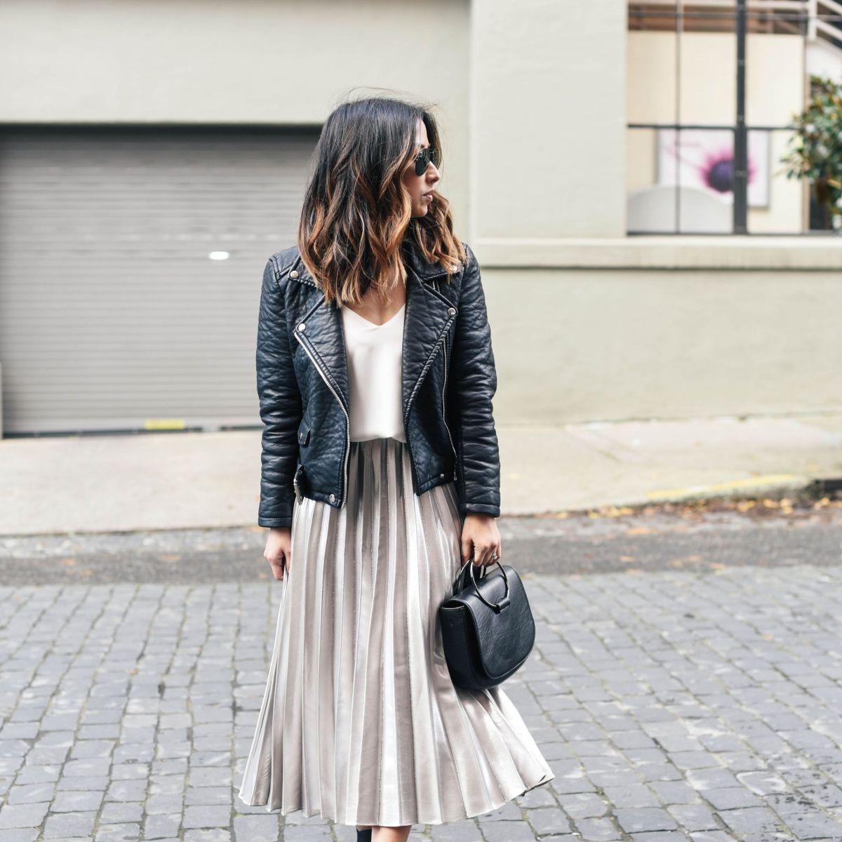 falda midi street style