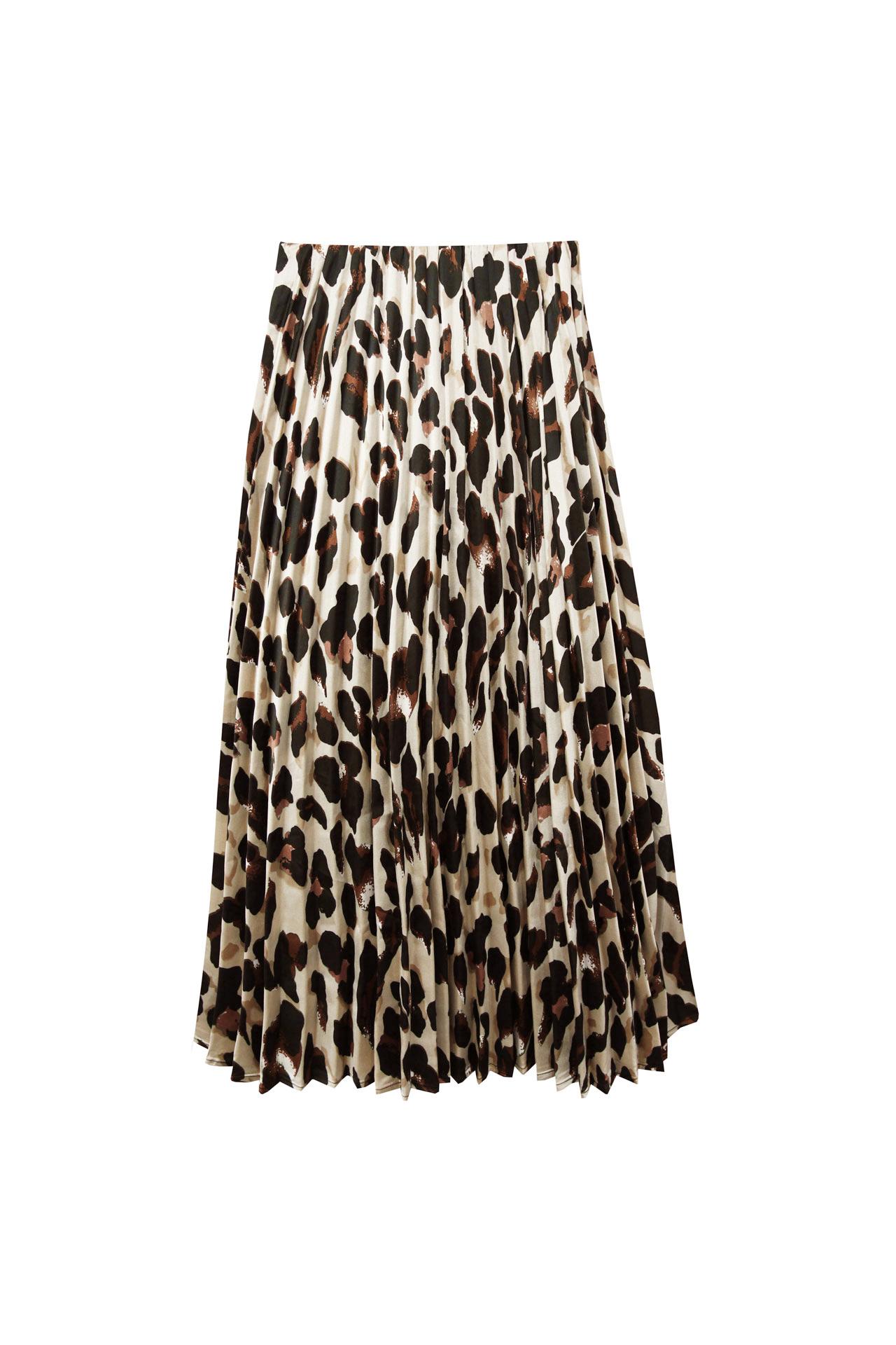 falda midi leopardo navidad