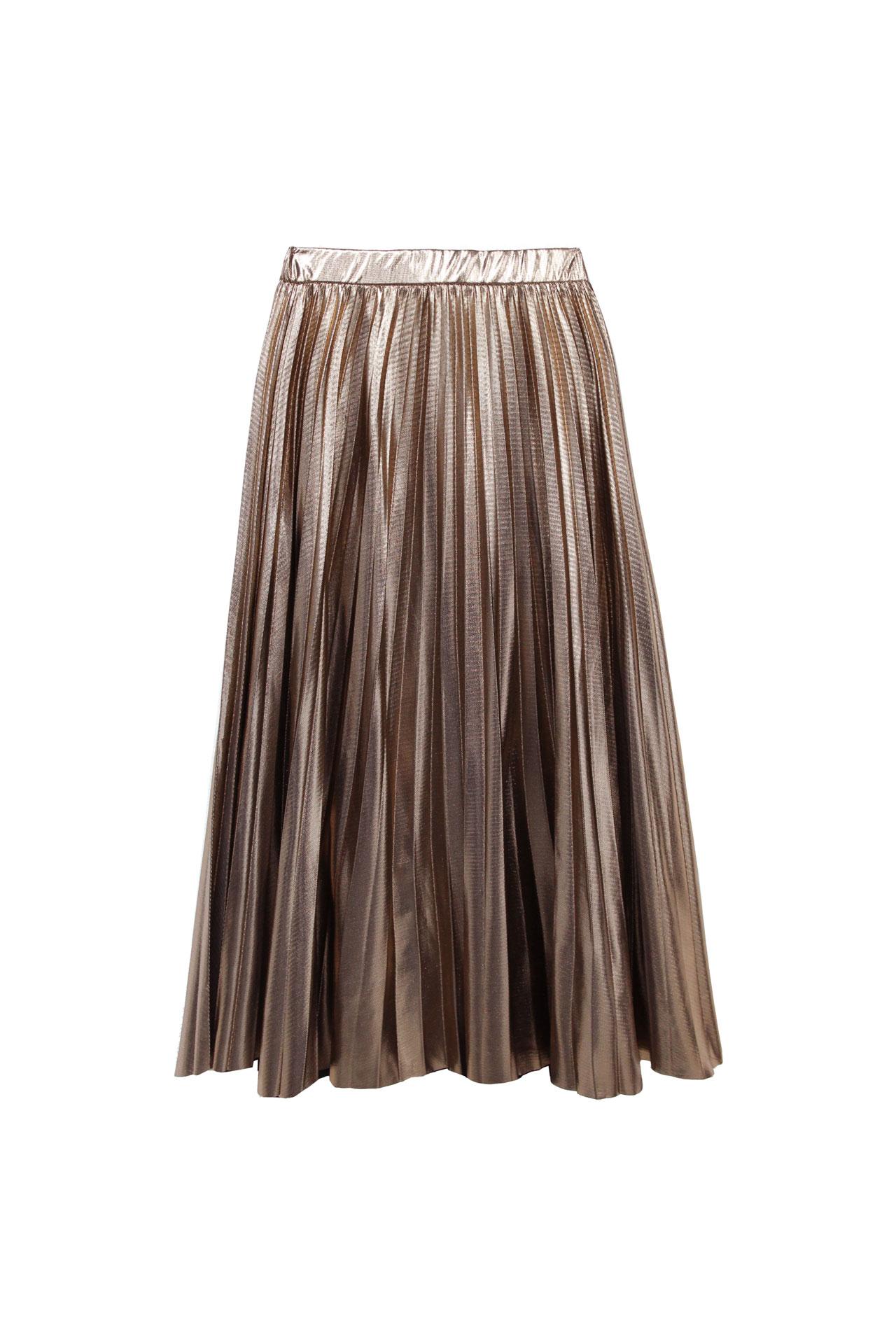 falda midi metalizada navidad