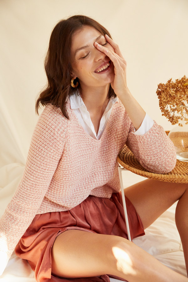 falda midi primaver en tonos pastel