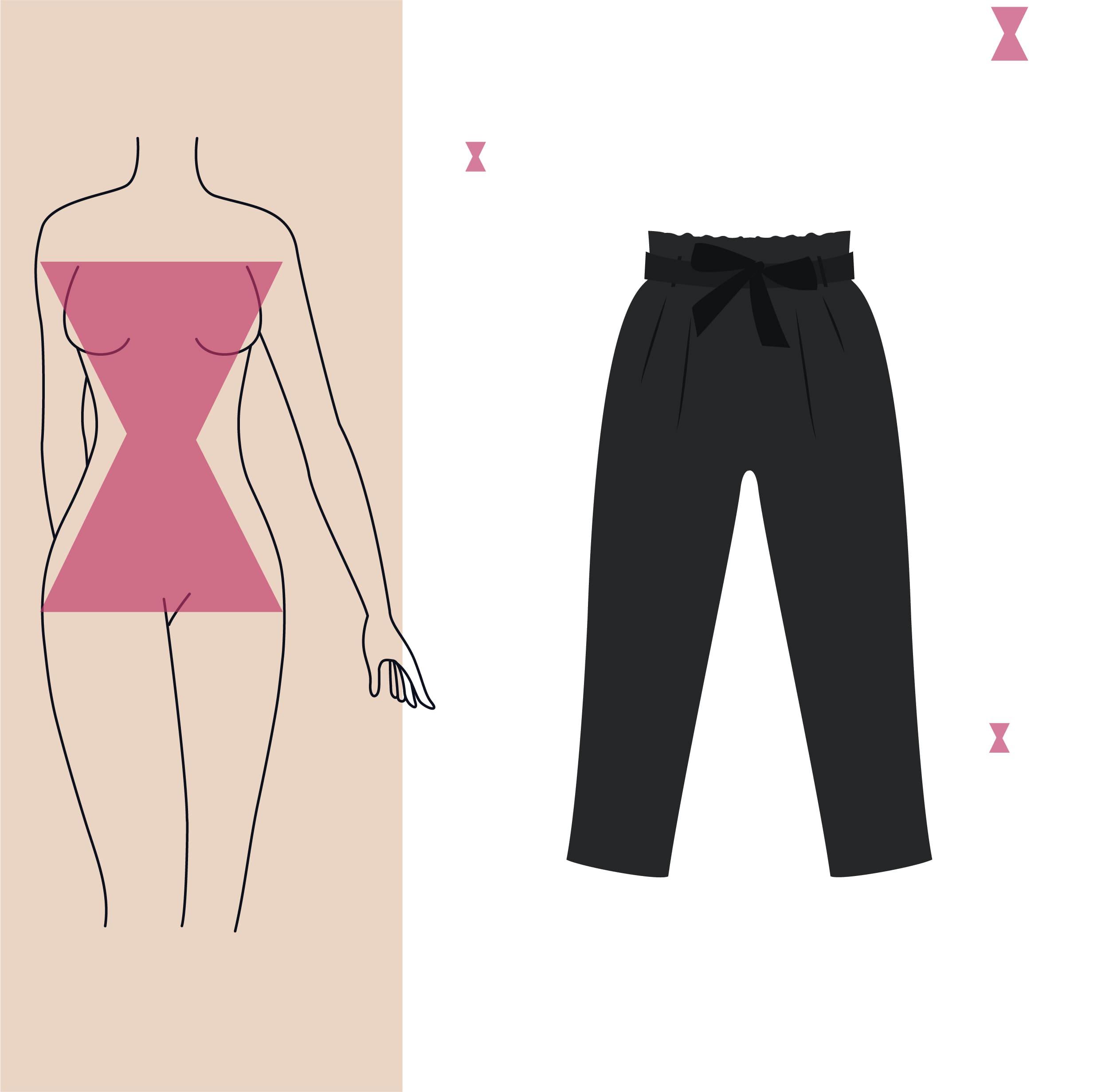 pantalon skinny para cuerpo reloj de arena