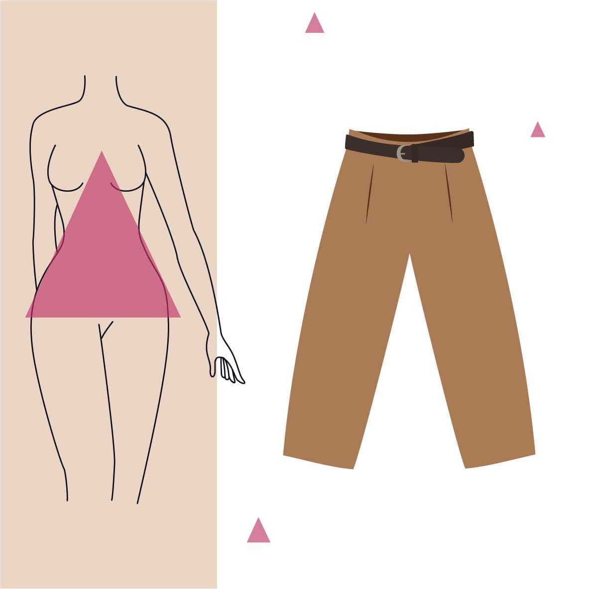 pantalon culotte para cuerpo triangulo